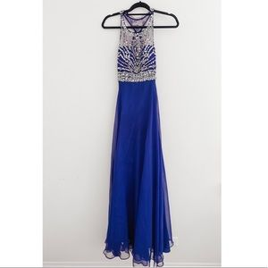 Royal Blue Prom Gown